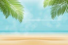 Καλοκαίρι απομονωμένο στο παραλία υπόβαθρο Έννοια διακοπών ελεύθερη απεικόνιση δικαιώματος