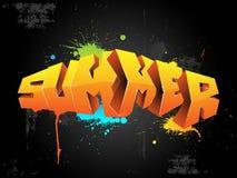 καλοκαίρι γκράφιτι Στοκ φωτογραφία με δικαίωμα ελεύθερης χρήσης