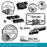 καλοκαίρι γραμματοσήμων Απεικόνιση αποθεμάτων