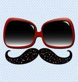 καλοκαίρι διασκέδασης mustache Στοκ Εικόνες