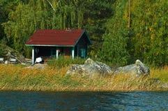 καλοκαίρι εξοχικών σπιτ&iot Στοκ Εικόνα