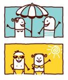 καλοκαίρι ζευγών ελεύθερη απεικόνιση δικαιώματος