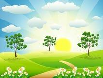 καλοκαίρι ημέρας διανυσματική απεικόνιση
