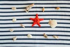 Καλοκαίρι, κάποια ουσία θάλασσας σε άσπρο και γδυμένος στοκ εικόνα με δικαίωμα ελεύθερης χρήσης