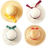καλοκαίρι καπέλων καπέλων Στοκ φωτογραφία με δικαίωμα ελεύθερης χρήσης