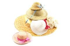 καλοκαίρι καπέλων Στοκ Φωτογραφία