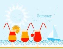 καλοκαίρι κοκτέιλ απεικόνιση αποθεμάτων