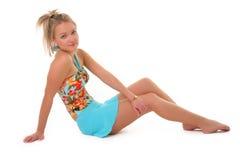 καλοκαίρι κοριτσιών φορεμάτων Στοκ Εικόνα