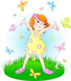 καλοκαίρι κοριτσιών απεικόνιση αποθεμάτων