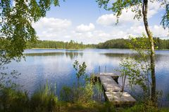 καλοκαίρι λιμνών στοκ φωτογραφία