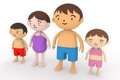καλοκαίρι οικογενει&alpha ελεύθερη απεικόνιση δικαιώματος