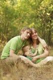 καλοκαίρι οικογενει&alpha Στοκ εικόνες με δικαίωμα ελεύθερης χρήσης
