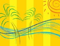 καλοκαίρι παραλιών ελεύθερη απεικόνιση δικαιώματος
