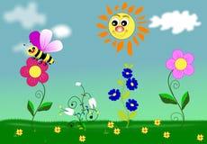 καλοκαίρι πεδίων διανυσματική απεικόνιση