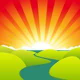 καλοκαίρι ποταμών κινούμ&epsil διανυσματική απεικόνιση