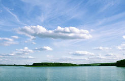 καλοκαίρι ποταμών φύσης Στοκ Εικόνες
