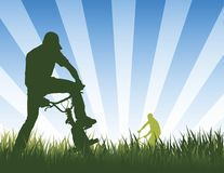 καλοκαίρι ποδηλατών Στοκ εικόνα με δικαίωμα ελεύθερης χρήσης