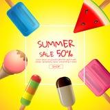 Καλοκαίρι, πώληση, σχέδιο προτύπων, διανυσματική απεικόνιση ελεύθερη απεικόνιση δικαιώματος