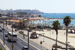 Καλοκαίρι στην παραλία στο Τελ Αβίβ Jaffa Στοκ Εικόνες