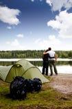 καλοκαίρι στρατοπέδευ&sig Στοκ φωτογραφία με δικαίωμα ελεύθερης χρήσης
