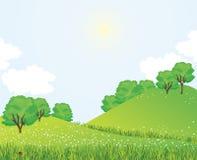καλοκαίρι τοπίων ελεύθερη απεικόνιση δικαιώματος
