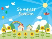 Καλοκαίρι background1 ελεύθερη απεικόνιση δικαιώματος