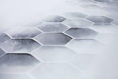 καλυμμένα εξαγωνικά κεραμίδια χιονιού στοκ φωτογραφία με δικαίωμα ελεύθερης χρήσης