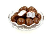 Καλυμμένα σοκολάτα Peppermints μπροστινής όψης Στοκ εικόνες με δικαίωμα ελεύθερης χρήσης