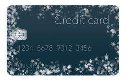 Καλυμμένες οι παγετός πιστωτικές κάρτες επεξηγούν την τοποθέτηση ενός πιστωτικού παγώματος σε μια πιστωτική έκθεση διανυσματική απεικόνιση
