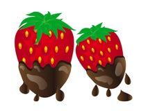 Καλυμμένες σοκολάτα φράουλες διανυσματική απεικόνιση