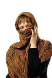 καλυμμένη γυναίκα προσώπ&omicro Στοκ Εικόνες