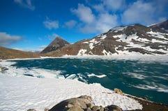 καλυμμένη λίμνη πάγου Στοκ Εικόνες