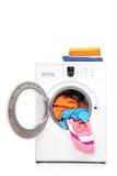 καλυμμένη μηχανή πλύση στούν& στοκ εικόνες