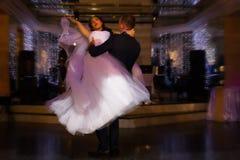 καλυμμένη νεόνυμφος κορυφαία όψη χορού νυφών Στοκ εικόνες με δικαίωμα ελεύθερης χρήσης