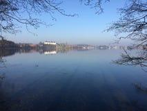 Καλυμμένη πάγος λίμνη Plöner Στοκ εικόνες με δικαίωμα ελεύθερης χρήσης