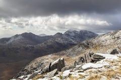 Καλυμμένη χιόνι άποψη Snowdon στοκ εικόνες με δικαίωμα ελεύθερης χρήσης