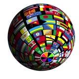 καλυμμένη όψη γήινων σημαιών polar5 διανυσματική απεικόνιση