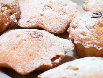 καλυμμένη muffins ζάχαρη Στοκ εικόνα με δικαίωμα ελεύθερης χρήσης