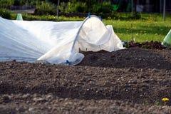 καλυμμένος σπορείο κήπο&s Στοκ εικόνες με δικαίωμα ελεύθερης χρήσης