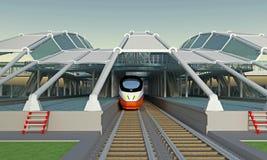 Καλυμμένος σταθμός τρένου διανυσματική απεικόνιση
