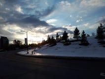 καλυμμένος χειμώνας του Τορόντου οδών χιονιού του Καναδά χιονοθύελλας πόλη Χειμώνας Τορόντο, Καναδάς Στοκ φωτογραφία με δικαίωμα ελεύθερης χρήσης
