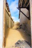 Καλυμμένο άμμος κενό Kolmanskop Στοκ εικόνες με δικαίωμα ελεύθερης χρήσης