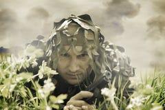 καλυμμένο άτομο στρατιωτικό Στοκ φωτογραφία με δικαίωμα ελεύθερης χρήσης