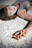 καλυμμένο αλεύρι Στοκ εικόνες με δικαίωμα ελεύθερης χρήσης