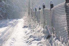 καλυμμένο επαρχία χιόνι μο& Στοκ φωτογραφίες με δικαίωμα ελεύθερης χρήσης