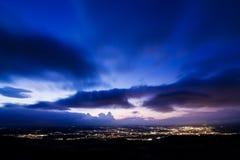 καλυμμένο ηλιοβασίλεμ&alpha Στοκ φωτογραφία με δικαίωμα ελεύθερης χρήσης