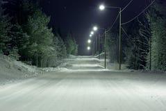 καλυμμένο οδικό χιόνι Στοκ Εικόνα