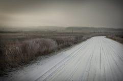 καλυμμένο οδικό χιόνι Στοκ Εικόνες