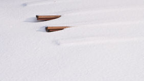 καλυμμένο πάγκοι χιόνι Στοκ Φωτογραφία