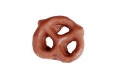 καλυμμένο σοκολάτα pretzel Στοκ φωτογραφία με δικαίωμα ελεύθερης χρήσης